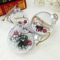 Chucherías de la esfera de hueco colgantes decoración Claro chuchería de la decoración de Navidad de plástico Craft bola de acrílico transparente Kid Regalo lindo