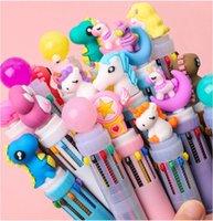 Piccola creatività fresca adorabile nuova penna a sfera multi-funzione multi-colore della penna multi-funzione. I bambini e gli adulti possono usare