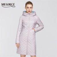 Miegofce Tasarımcı Bahar Bayan Pamuk Ceket Fermuar ve Orta Uzunlukta Dayanıklı Kapüşonlu Yaka Kadın Yağmurluk Rüzgar Geçirmez 201217