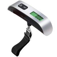 패션 핫 휴대용 LCD 디스플레이 전자 행잉 디지털 수하물 무게 규모 50kg * 10g 50kg / 110lb 무게