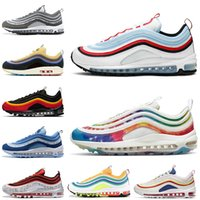 Nike Air Max 97 Top Quality Sean Wotherspoon 97 Mens Running Shoes armax97s bala airmax Triplo Preto Prata Mens Womens Sneakers Desporto