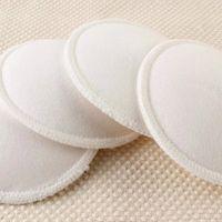 洗濯できる防水飼料パッド竹再利用可能な胸のパッドの介護パッドの4個の新しい白い竹の胸のパッドパッド