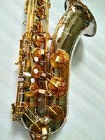 جديد تينور ساكس T-W037 تينور ساكسفون الآلات الموسيقية BB لهجة النيكل الفضة مطلي أنبوب الذهب مفتاح ساكس مع حالة الفم