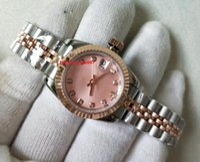 Spedizione gratuita Topsellering da polso di alta qualità 18038 18K oro rosa in acciaio inox movimento automatico 26mm signore orologi da donna orologi da donna