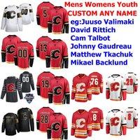 Calgary Flames Hockey-Trikots Connor Zary Jersey Matthew Tkachuk Johnny Gaudreau Mark Giordano Milan Lucic Sam Bennett Red Custom genestigt