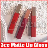 3CE Matte Líquido Batom de Longa Duração Waterproof suave Lip Lacquer Tint Matte Nude Lip Gloss Lipgloss 6 cores
