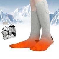 Calcetines deportivos Algodón térmico Calentado Ski Ski Invierno Calentador de calentamiento eléctrico Calcetín de calcetín Power Power Unisex Motorcycle Equitación Socks1