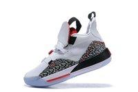 Yeni Erkek Jumpman XXXIII 33 Çimento Basketbol Ayakkabı 33s Multicolors Tech Paketi CNY Spor Eğitmenler Spor ayakkabılar Boyutu 40-46