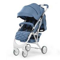 Babyfond-Baby-Kinderwagen Leichte Hohe Landschaft Babywagen kann sitzen und liegen PRAM Eine Hand Falten Kind Regenschirm Cars1