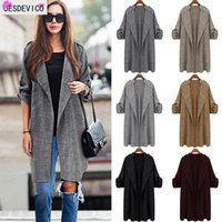 Womens Autumn Medium length Trench Coats High Street Cardigan Outwear Female Large size 2020 Winter Fashion Casual Trenchs Woman