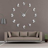الكلاسيكية الكرتون التصميم الحديث أنيمي تحت عنوان ماوس المطبخ diy ساعة الحائط 3d سات reloj دي باريد ووتش housewarming هدية للأطفال غرفة Y200110