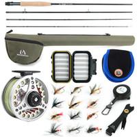 Maximumcatch 3-8WT pesca con mosca Combo 8'6 '' / 9' media-rápida Mosca Rod Pre-cola Tubo mosca ReelFly línea con Cordura Triángulo 201022
