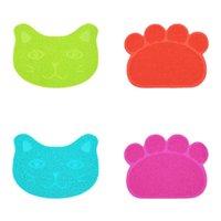 Almohadillas de alfombrillas de gato antideslizantes PVC 30 * 40 cm Color sólido Perro anti gatos de lijado Mat de lateral Mat Kitty RUB Frote Pad Supplies 3 6JN M2