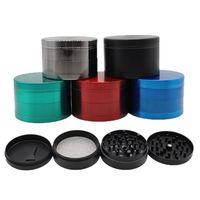 Smerigliatrici in lega di zinco 4 strati tabacco smerigliatrice colorata grinder denti denti smerigliatrici per fumare accessori per fumare mano Muller strumento LLA109