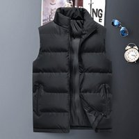 Mens Vest mens warm vest Sleeveless Winter Fashion Casual Slim Coats Brand Clothing Cotton-Padded Men's Men Waistcoat