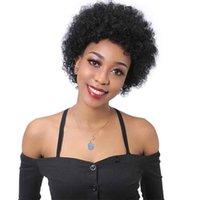 Короткие парики человеческих волос Afro Kinky завитые парик для женщин бразильского Виргинские человеческих волос Natural Color