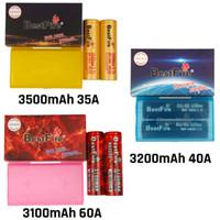 Authentic Bestfire 18650 Batteria IMR BMR BMR ricaricabile al litio vape mod batteria 3100mAh 3200mAh 3500mAh 35A 40A 60A rosso nero giallo piatto a