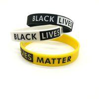 Black Lives Matéria Bracelete Silicone Silicone Borracha pulseira pulseira pulseira esporte pulseira para homens mulheres parada pacífica jóias presente de natal