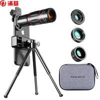 28x HD Telefone Celular Lente Telescópio Zoom Macro Lente para iPhone Samsung Smartphone Fish Eye Lente Para Celular
