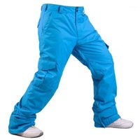 Лыжные брюки Услуги на открытом воздухе лыжи высококачественные ветрозащитные водонепроницаемые теплые мужские снежные брюки зимние мужские сноуборд -40 градусов1