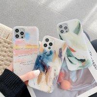 Retro Abstract Art Graffiti Gold Leaf Case Telefono per iPhone 12 11 Pro Max XR XS Max 7 8 Plus 12 Mini 7Plus Case Cute Soft Cover