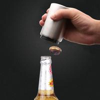 Apri in acciaio inox creativo Apribottiglie Birra Bottle Apri Birra Automatico Tipo di stampa Succo a molla Bere Berretto Apristire VTKY2267