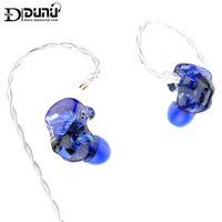 헤드폰 이어폰 Dunu Studio SA3 3BA 트리플 드라이버 In-Ear 모니터 이어폰 IEM 2 웨이 크로스 오버 2 핀 0.78mm 분리형 케이블 3D-PR