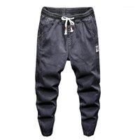 Jeans Menores 2021 Primavera Denim Monos Mascule personalidad Casual Tamaño grande 3xl Pantalones Harem Pantalones Harem Green Grey Jean Hombres Brand1