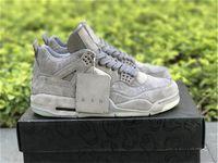 2021 kaws x 4 autentico fresco grigio nero 4s xx chiaro bagliore nella scuro scarpe da esterno uomo bianco scarpe da ginnastica Zapatos con scatola originale