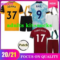 20 21 Wolves Raul Soccer Jerseys 2020 2021 Adama Diogo J. Coady Neto Podence Doherty J.otto Home Away Camicia da calcio Uomo + Attrezzature per bambini