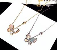 Яркий сверкающий бриллиант циркона красивая бабочка мода дизайнер короткий колье кулон ожерелье для женщин девушки розовое золотое серебро