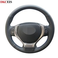 Bricolage cousu main souple noir PU cuir artificiel volant de voiture Couverture pour ES250 ES300h GS300h GS250 RX350 RX270