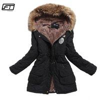 Fitaylor Kış Ceket Kadınlar Kalın Sıcak Kapüşonlu Parka Mujer Pamuk Yastıklı Ceket Uzun Paragraf Artı Boyutu 3XL Ince Ceket Kadın 201209