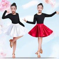 Latin Practice Dance Wear Dancewear Competition Dress Skirt Gonna Tango Flamengo Ballroom Salsa Rumba CHA Cha ragazza Bambini Bambino Bambino Costume1