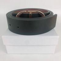 Модный дизайнерский пояс для мужского стильного пояса повседневная мужчина бизнес буквы CD гладкие пряжки ремня роскошные ремни ширину 3,8см с подарочной коробкой