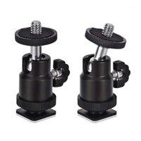 Стабилизаторы Mini Ball Head [2 Pack] с адаптером для обуви, адаптер 360 градусов 1/4 дюйма небольшие головы легкий поворотный микро-шал для D1