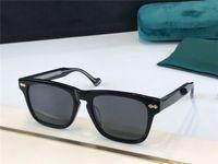 0735 Yeni Erkek ve Kadın Güneş Gözlüğü Boyutu Kare Çerçeve Avant-Garde Popüler Retro Tarzı Işık Renk Dekoratif Güneş Gözlüğü Popüler Stil 0735s