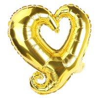 18 zoll Haken Herz Form Aluminiumfolie Ballons Aufblasbare Hochzeits-Dekoration Valentinstag-Geburtstag Baby-Dusche Luftballone CCA2960