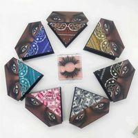 거짓 속눈썹 도매 속눈썹 포장 상자 속눈썹 상자 사용자 정의 로고 가짜 CILs 3D 밍크 Lashes 다이아몬드 케이스와 트레이와 대량
