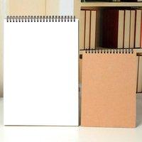 A3 A4 A5 Vintage Espiral Bobina Dibujo Dibujo Pintura Graffiti Funda Dura Vertical Flip Sketchbook Cuaderno Oficina Suministros Escolares1