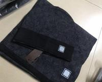 Sistema de la bufanda del sombrero de alta calidad de la venta caliente para los hombres y las mujeres de la bufanda de la bufanda del invierno del diseño del chal de la bufanda de la beanie de la beanie