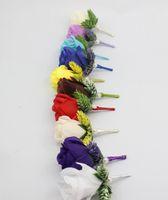 장식 꽃 화 환 50 PC 도매 조각 10 색상으로 사용할 수있는 결혼식 Boutonnieres 신랑 Groomsman 핀 브로치 로즈 코사지 꽃