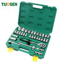 TUOSEN 32PCS in 1 Mechaniker Handratsche Werkzeug-Set Autosteckschlüssel Werkzeuge Mini-Reparatur für Auto professionellen gereedschap Kit