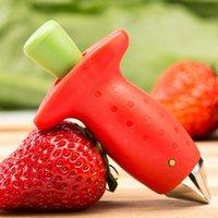 الفراولة الأحمر طحن الفراولة أعلى ورقة مزيل الفاكهة الطماطم القصبات سكين الفاكهة الجذعية مفيد مزيل أدوات المطبخ AAD2782
