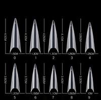 500 adet / paket Doğal Temizle Stietto Yanlış Tırnak İpuçları Akrilik Gen Ekstra Uzun Tam Kapak Çivi Manikür Araçları