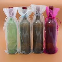 Органза Вина подарочные сумки для шампанского бутылки ювелирные изделия мешочки для свадьбы рождественские вечеринки благополучие упаковки конфеты сумка сумка