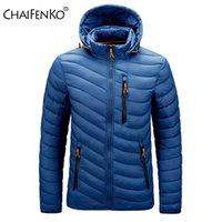 CHAIFENKO marque hiver hiver veste étanche chaude Hommes Nouveau automne épais Capuche Parkas Mens Fashion Casual Slim Jacket manteau Hommes 210203