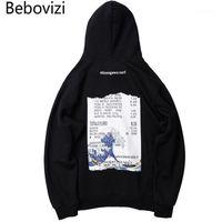 Herren Hoodies Sweatshirts BEBOVIZI Streetwear Japan Stil Wave Print Hip Hop Japanische Oberteile Männer Casual Pullover Kapuzen1
