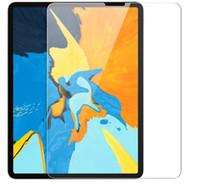 حماة شاشة واضحة للزجاج المقسى ل iPad8 iPad Pro Air 4 10.9 Inch Air 4 10.9 iPad7 10.2 Mini45 Samsung Tab A T510 بدون حزمة