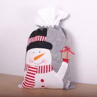 Бесплатная доставка Принадлежности для Рождества серого войлока Нетканого Drawstring Рождественского подарка сумка Drawstring карманного Большого Рождество конфета мешок F9203